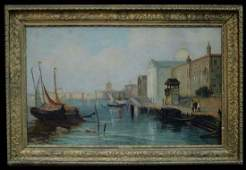 19 Century Oil On Canvas Painting Attributed to J.