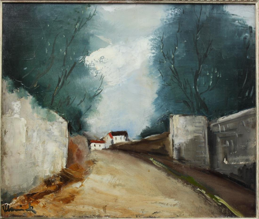 Maurice de Vlaminck French Oil On Canvas Painting - 2