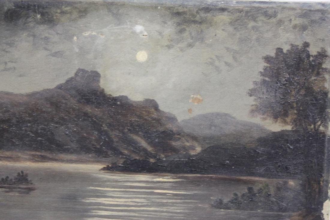 English Oil On Canvas Landscape Painting - 2