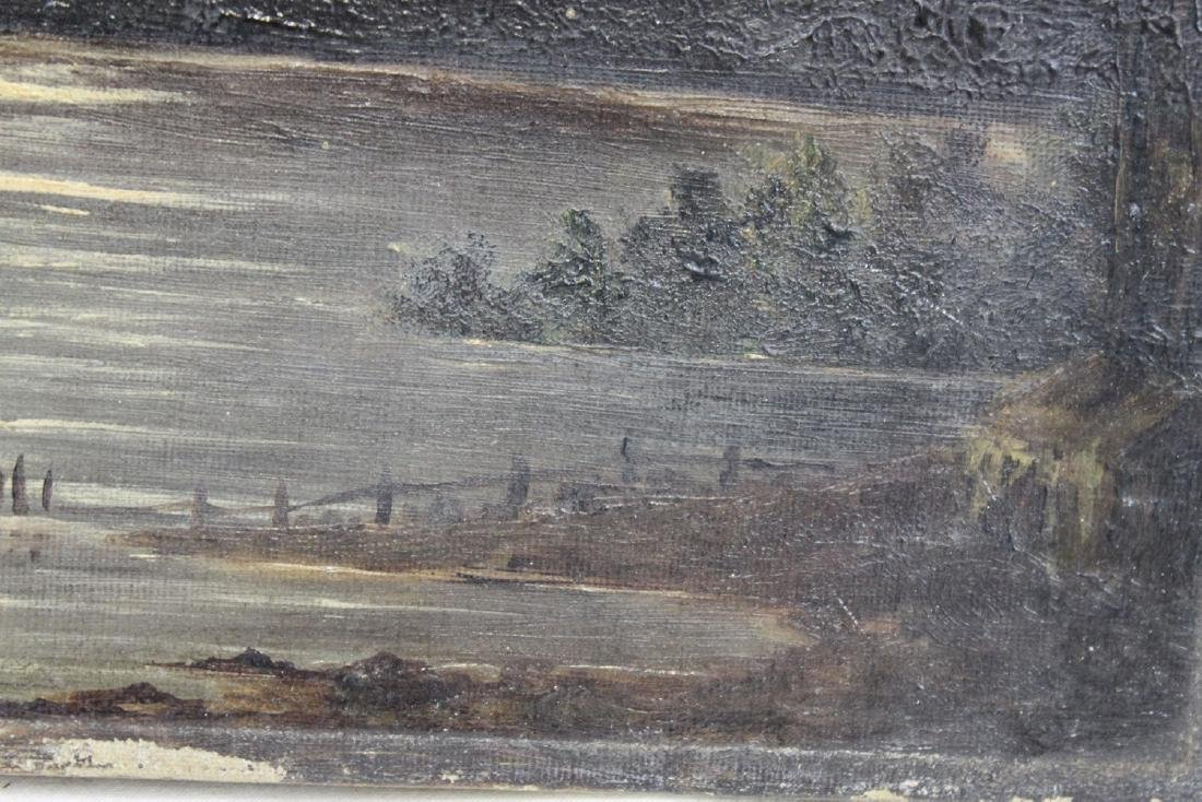 English Oil On Canvas Landscape Painting - 3