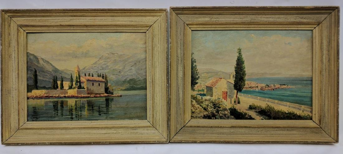 Two Oil on Board Paintings by M. Gvozdenovic
