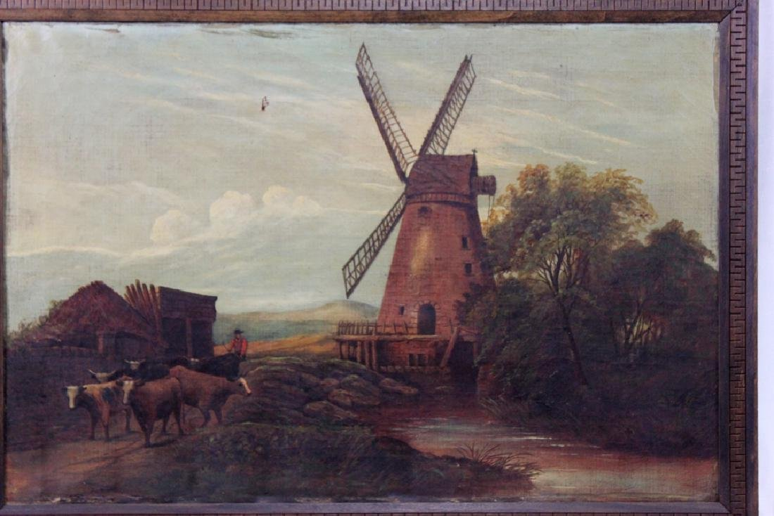Continental School early 20th Century Oil on Canvas - 2