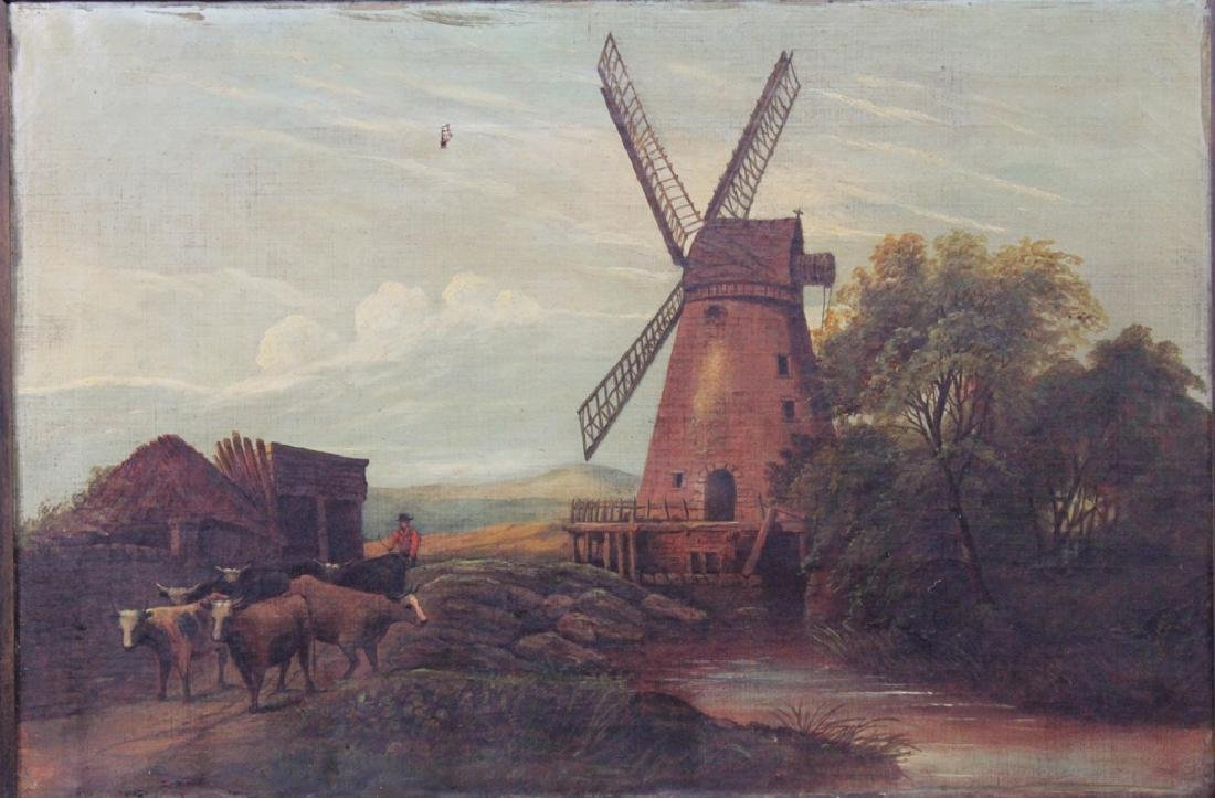 Continental School early 20th Century Oil on Canvas - 3
