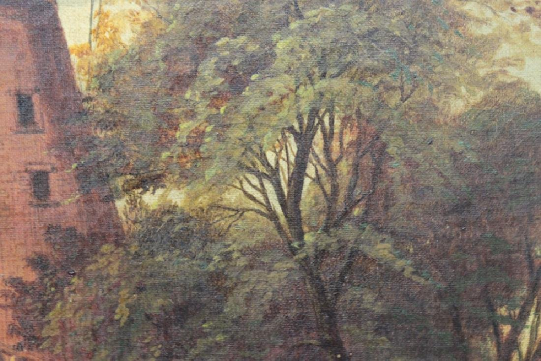Continental School early 20th Century Oil on Canvas - 4