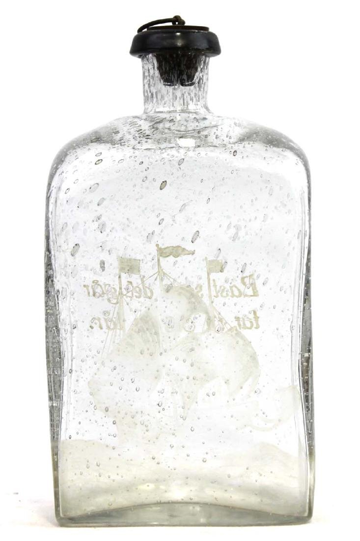BRANNVINSKARAF GLASS BOTTLE