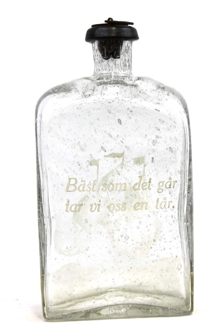 BRANNVINSKARAF GLASS BOTTLE - 3