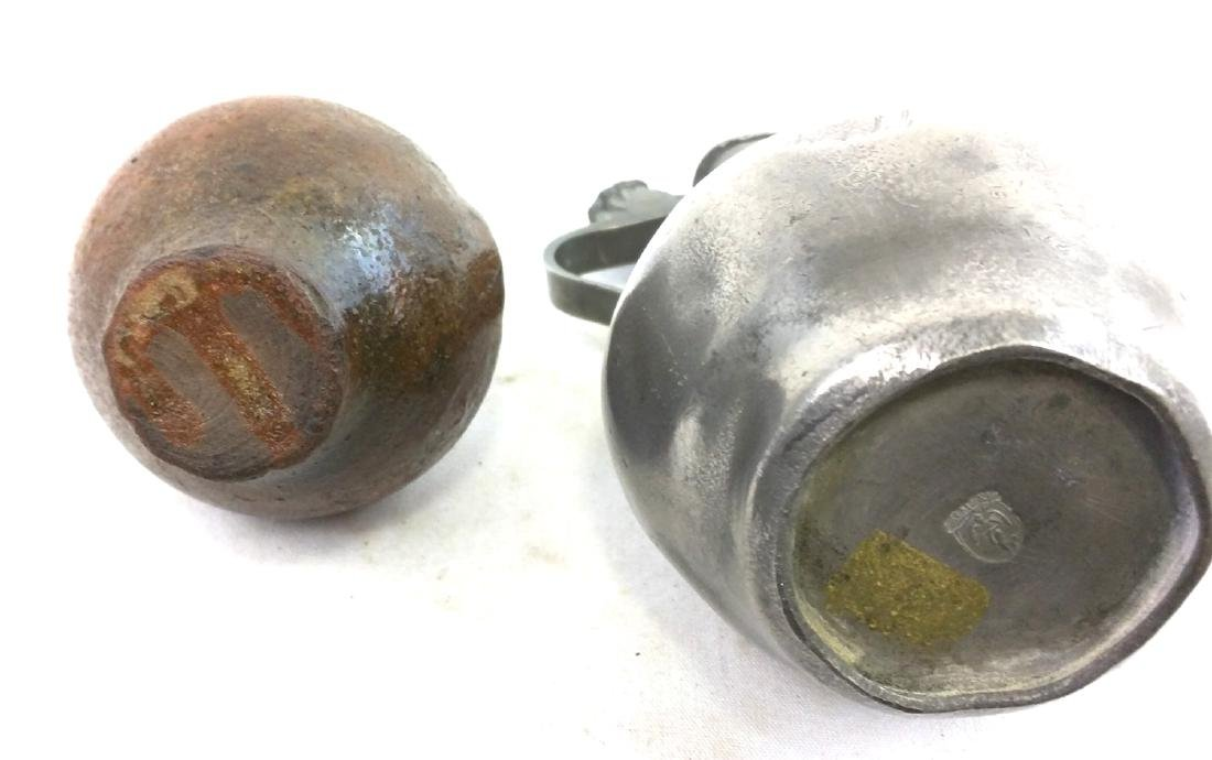 Two 17 Century German Jug Pewter and Salt Glaze Pottery - 5