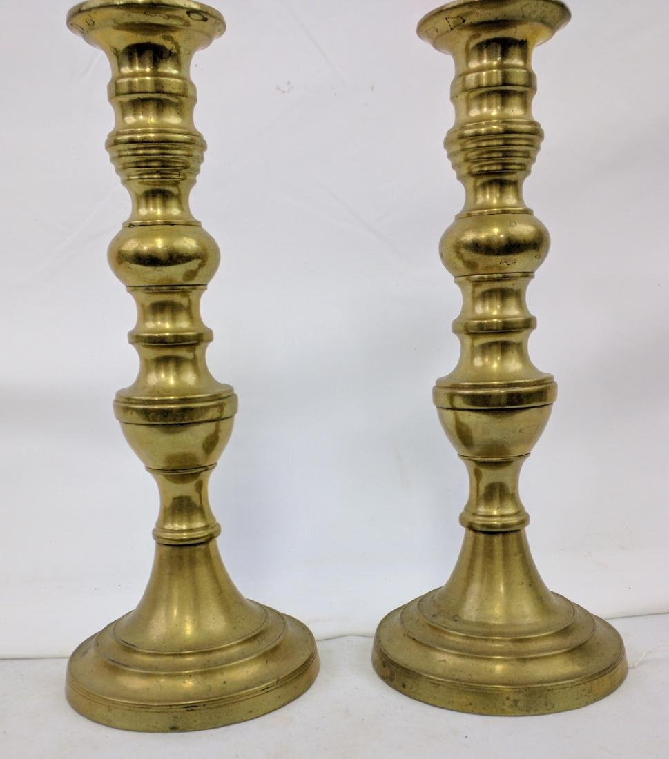 Pair Brass Candlestick, Europe, Early 19th Century