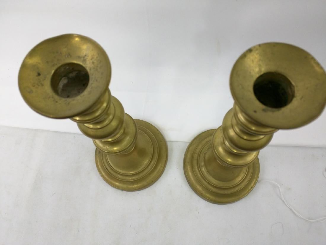 Pair Brass Candlestick, Europe, Early 19th Century - 5