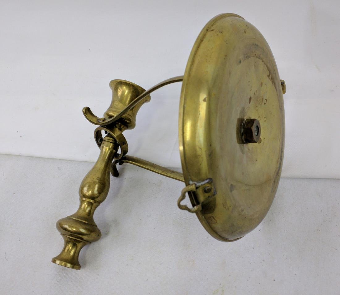 Early 19 Century Brass Ships Candlestick - 4