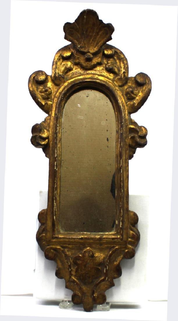 Italian 18 Century Framed Mirror