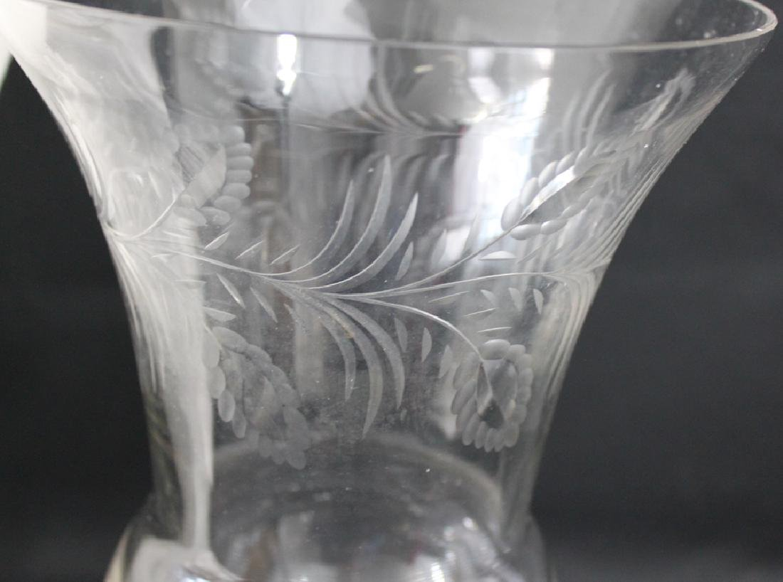 Probably American 19 Century Etched Vase. - 2