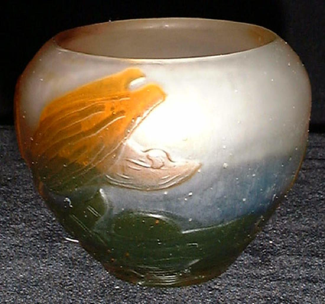 French Cameo Glass Vase by Galle, Circa 1910 - 2