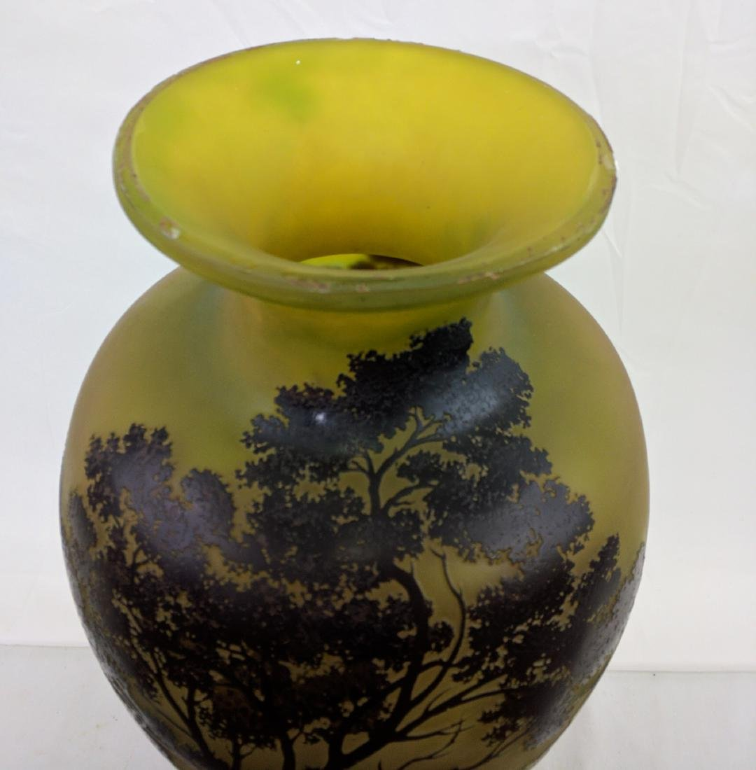 Large Galle Cameo Glass Landscape Vase, Circa 1900 - 4