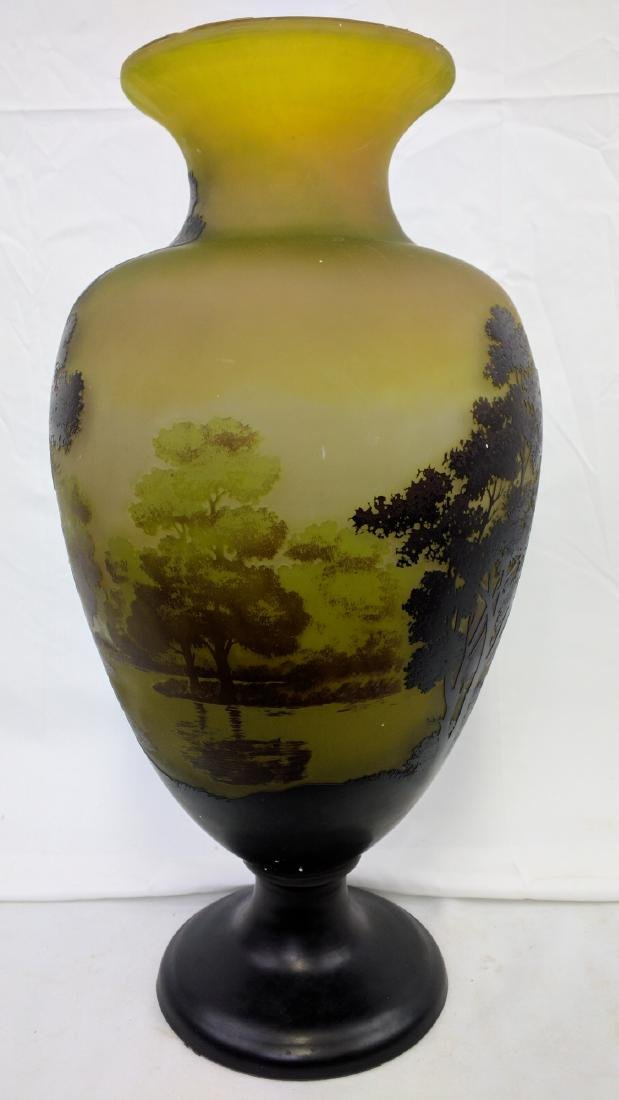 Large Galle Cameo Glass Landscape Vase, Circa 1900 - 6