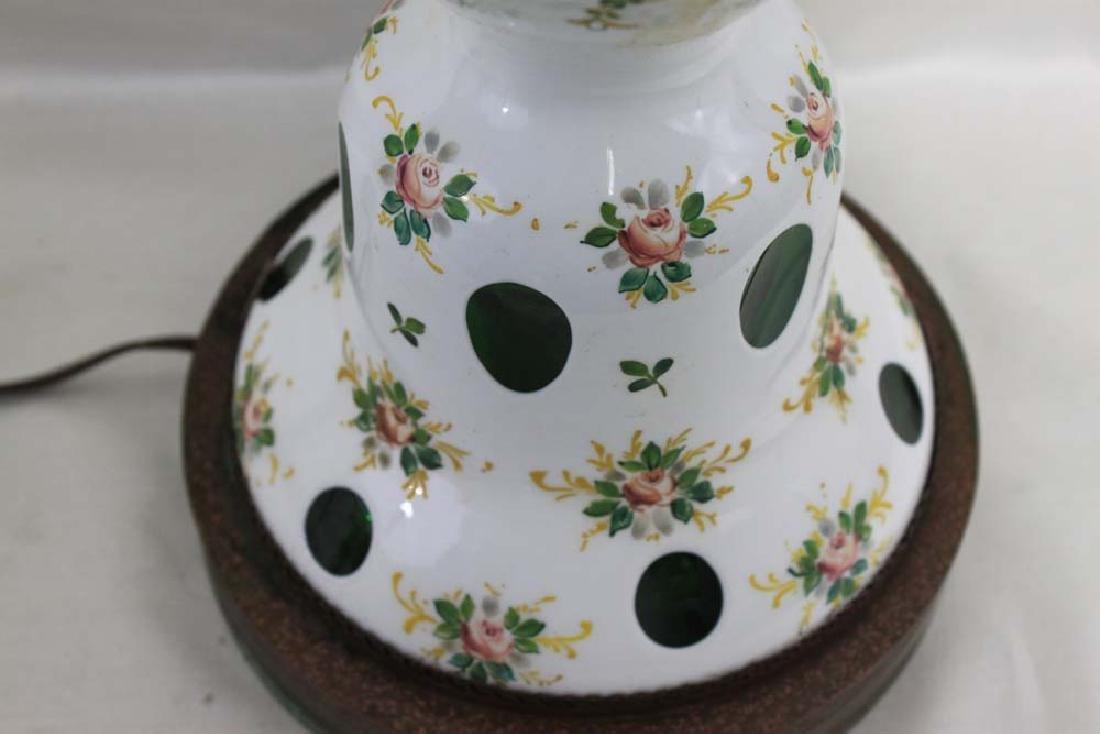Vintage Bohemian Czech Glass White Overlay - 4