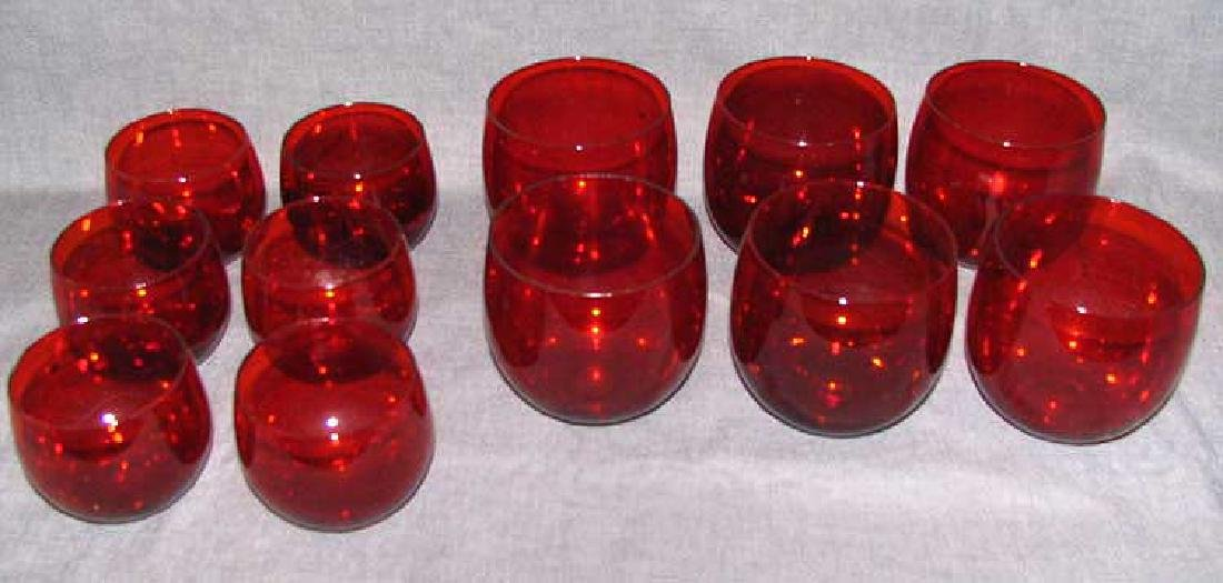 A Lot of Red Glass Items - 2