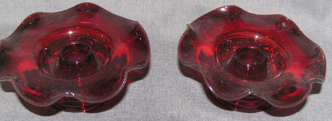 A Lot of Red Glass Items - 3