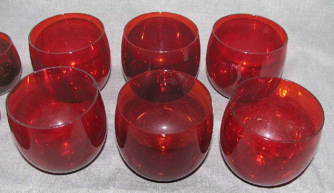 A Lot of Red Glass Items - 6