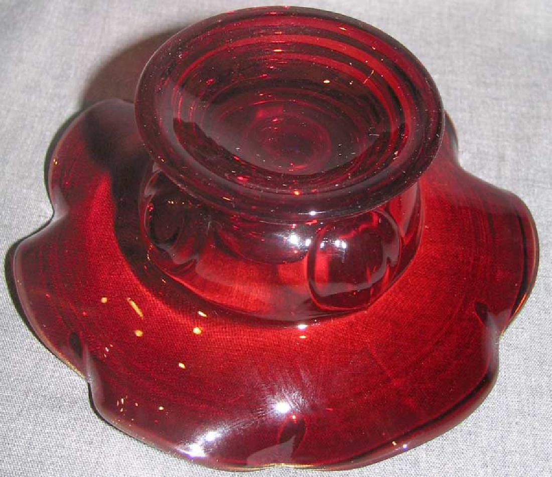 A Lot of Red Glass Items - 9