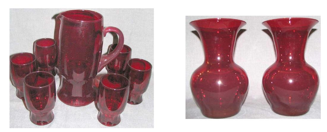 Set of six Cups & Pitcher & Pair of Vase