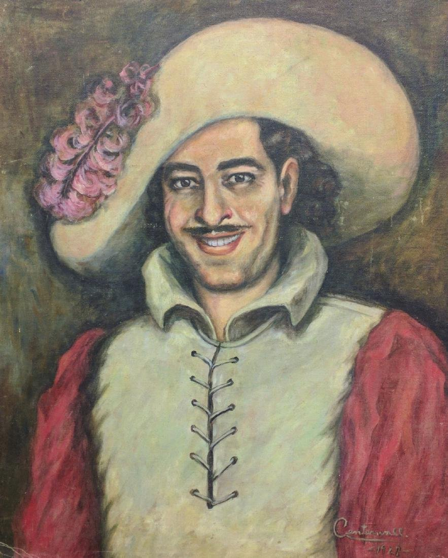 OLD OIL ON CANVAS PAINTING PORTRAIT OF MAN