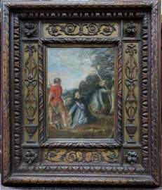 17 Century Oil On Copper Painting