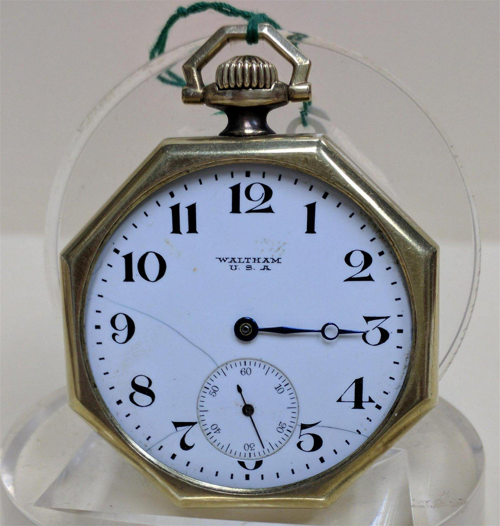 Pocket watch A.W.W. Co. Waltham Mass Pocket Watch