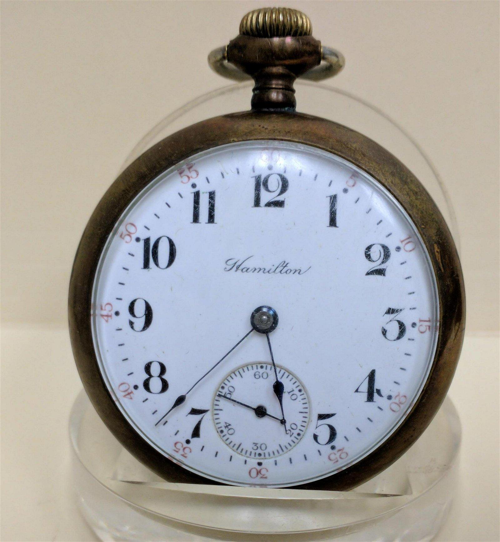 Pocket watch HAMILTON WATCH CO. LANCASTER PA Pocket