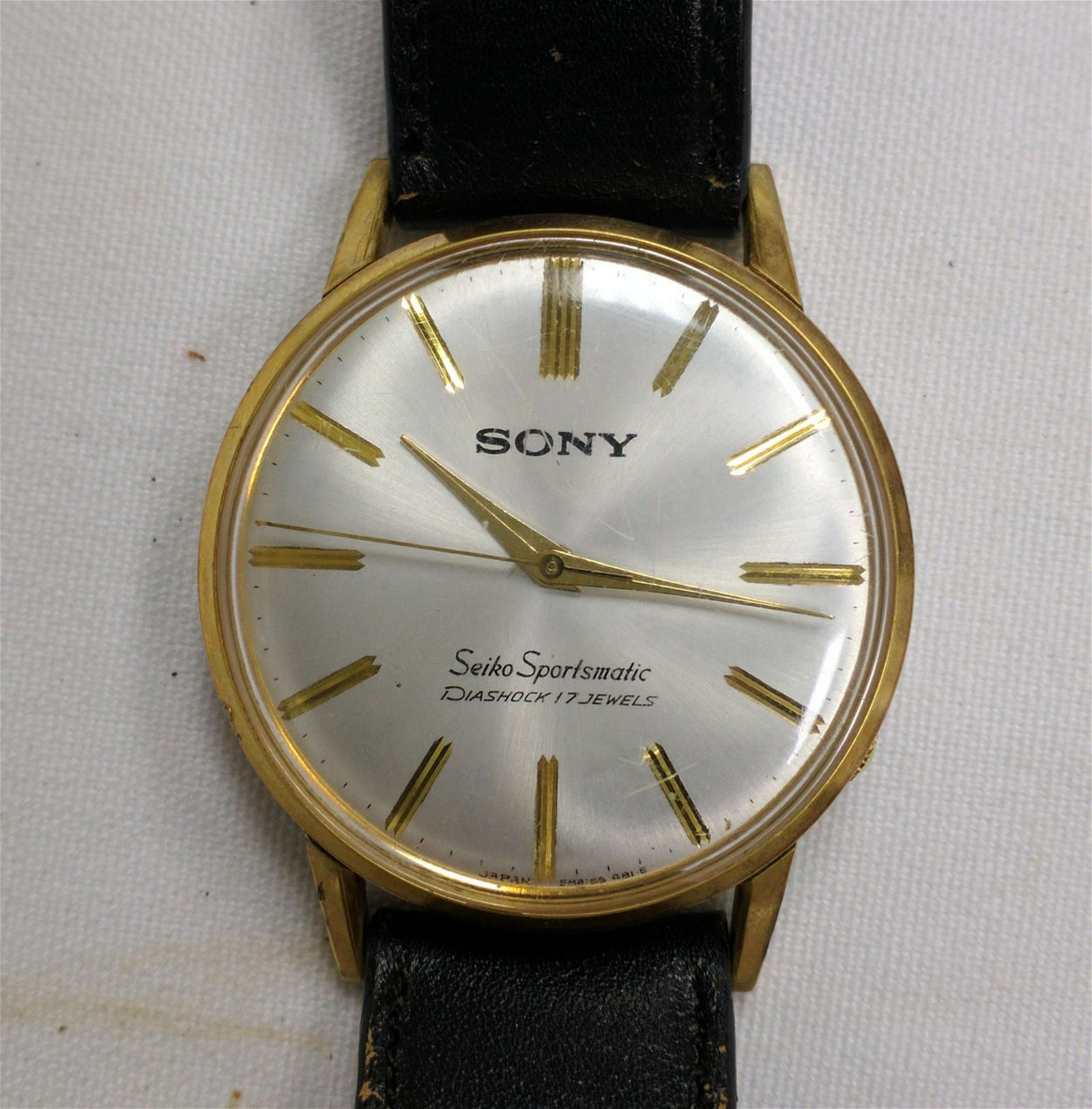 Rare Vintage Seiko Sony Sportsmatic 15035 Men Watch Aug 27