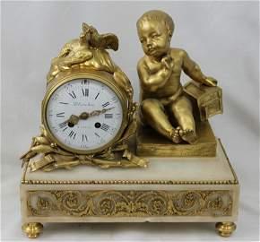19th Century French Bronze Mantel Clock