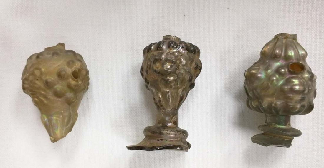Three pieces Roman Glass 3rd - 2nd Century B.C