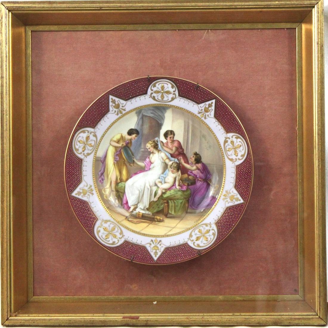 19 Century Hand Painted Vienna Plate