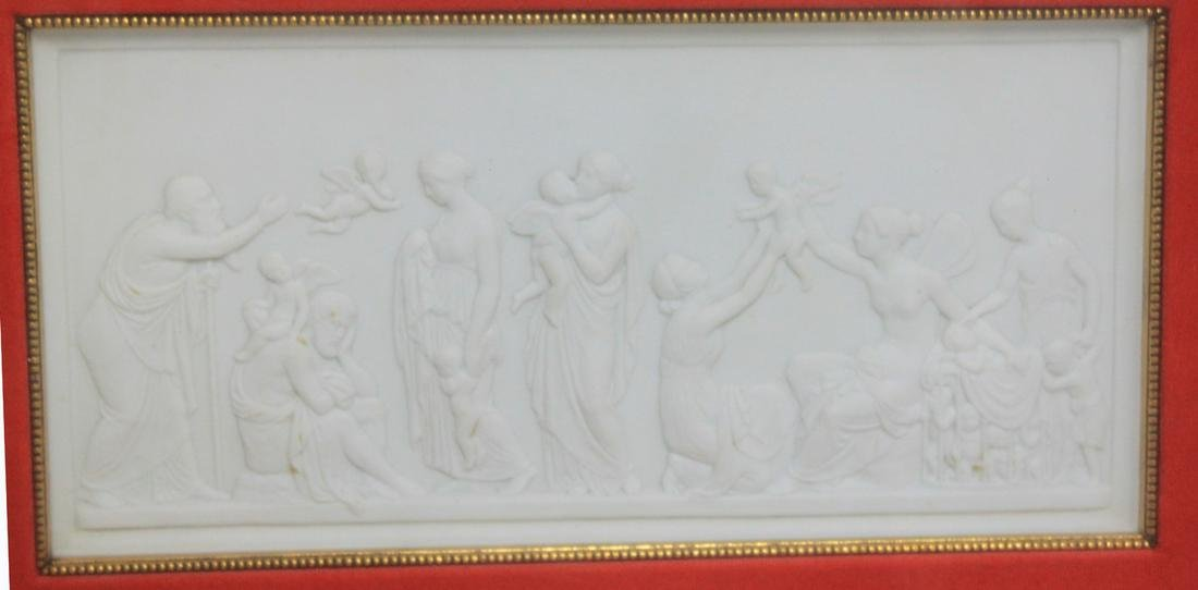 19th Century French Bisque Panel