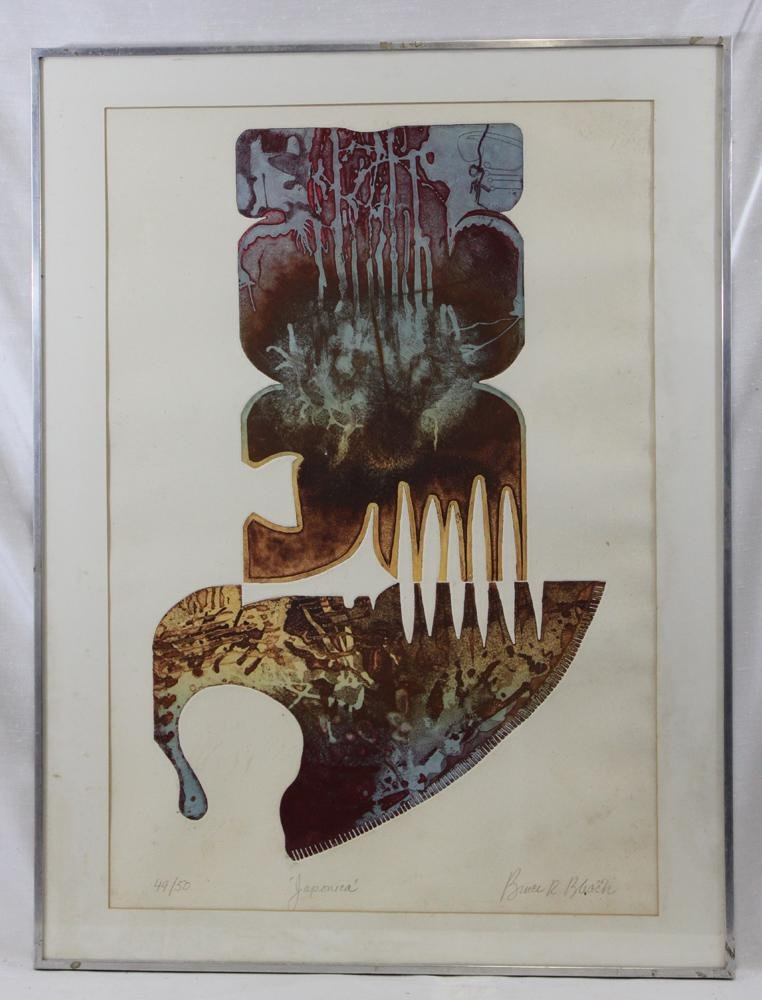 """LIMITED EDITION ETCHING """"JAPONICA"""" BY B. BLACK"""