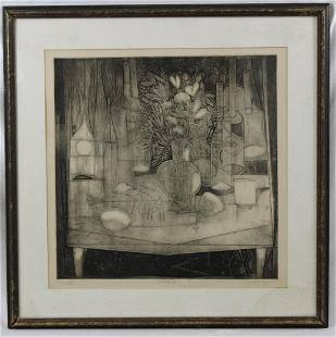 SIGNED LIMITED EDITION SIGNED STILL LIFE ETCHING