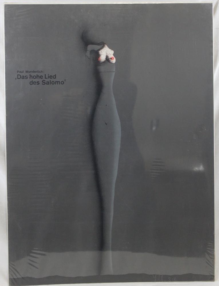 """Poster. """"Paul Wunderlich: 'Das hohe Lied Des Salomo'"""""""