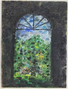 Impressionists Style Oil on Canvas Board Painting