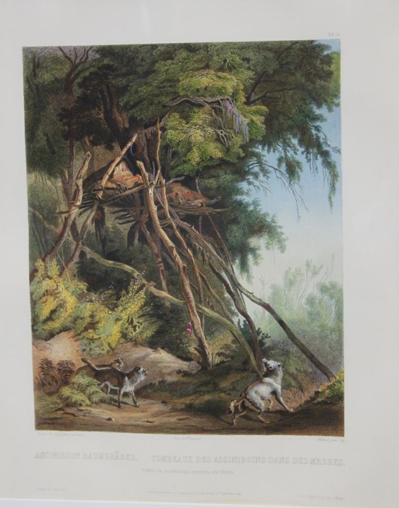 Karl Bodmer Published Original Hand Colored Engravings
