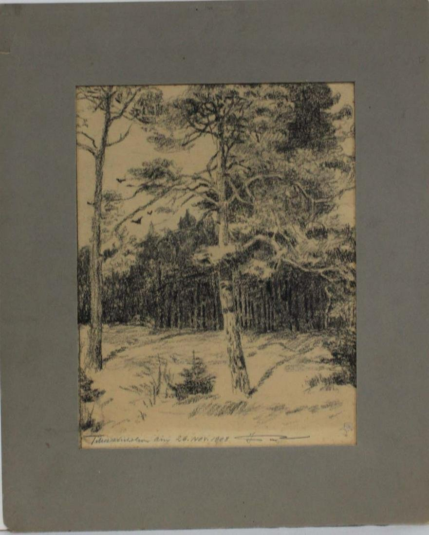 American Pencil Drawing of Landscape by Nicholson1908