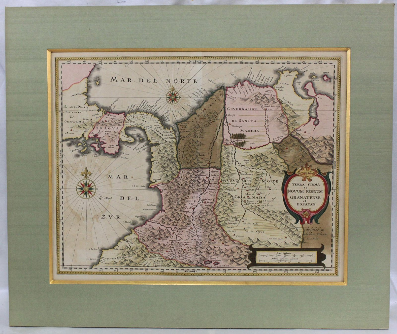 Blaeu's Map of Panama, Colombia Blaeu, Joan, 1596-1673