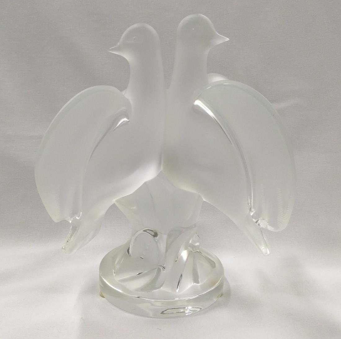 Large Lalique Crystal Bird Sculpture