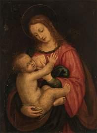 16 Century Oil On Board Italian Painting