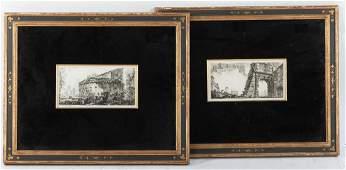 Two Italian Engraving Giovanni Battista Piranesi
