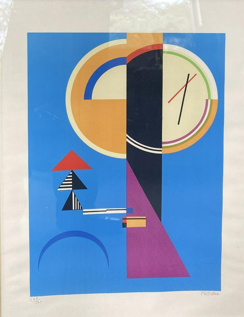 P.N. Vollet. Abstract Lithograph