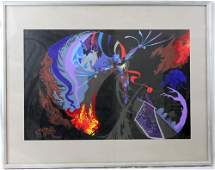 ABSTRACT OIL PAINTING BY FARRINGTON