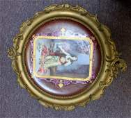 19 Century French portrait of a woman plaque