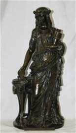Clodion 19th century French Patinated Bronze Figure of