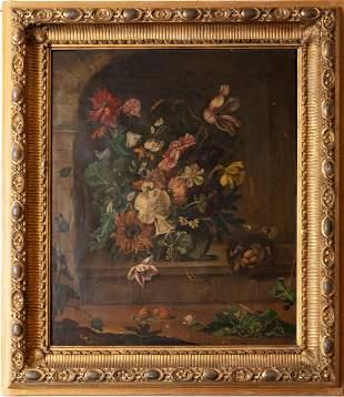Flemish School (17th Century) - Still life of flowers