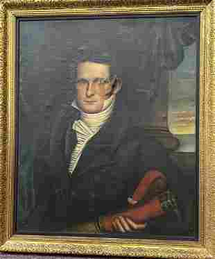 American School (19th Century) – Portrait of a man,